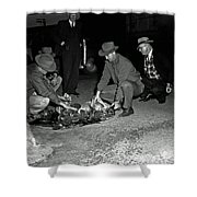 Dumping Whiskey In Mississippi 1951 Shower Curtain