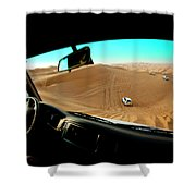 Dune Bashing In The Empty Quarter Shower Curtain