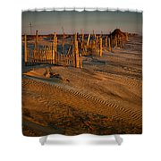 Dune Erosion Fence Outer Banks Nc Img3748 Shower Curtain