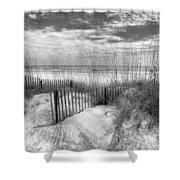 Dune Fences Shower Curtain