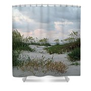 Dune Sea Oats Shower Curtain