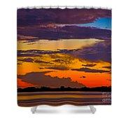 Dunedin Causeway Sunset Shower Curtain
