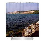Dunes North Of Frankfort Michigan Shower Curtain