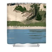 Dunes Of Lake Michigan Shower Curtain