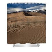 Dunes Ripples And Clouds Shower Curtain