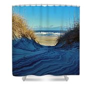 Dunes Sand Art By Mother Nature 2/08 Shower Curtain