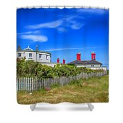 Dungeness Lighthouse Quarters Shower Curtain