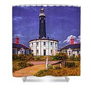 Dungeness Old Lighthouse Shower Curtain
