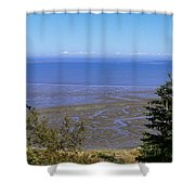 Dungeness Harbor Shower Curtain