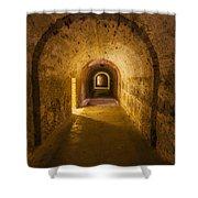 Dungeon At Castillo San Cristobal In Old San Juan Puerto Rico Shower Curtain