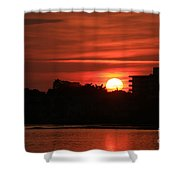 Dunlawton Sunrise Shower Curtain
