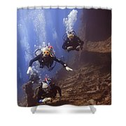 Dunraven Divers Shower Curtain