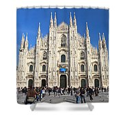 Duomo In Milano. Italy Shower Curtain by Antonio Scarpi