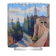 Duomo Pienza Shower Curtain