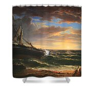 Durand's The Stranded Ship Shower Curtain