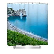 Durdle Door In The Evening Shower Curtain