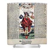 Durer: Syphilitic, 1496 Shower Curtain