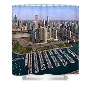Dusable Harbor Chicago Shower Curtain