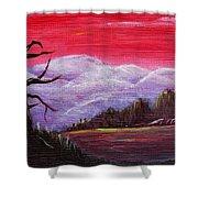 Dusk Shower Curtain by Anastasiya Malakhova
