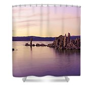 Dusk At Mono Lake Shower Curtain