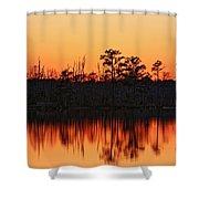 Dusk At Pocosin Lakes Shower Curtain