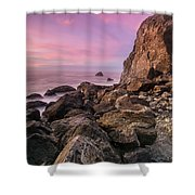 Dusk Falls Over Patrick's Point Shower Curtain