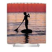 Dusk Float - Sunset Art Shower Curtain