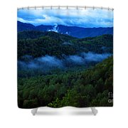Dusk In The Smoky Mountains   Shower Curtain