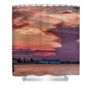 Dusk In Venice Shower Curtain