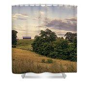 Dusk On The Farm Shower Curtain
