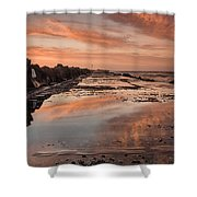 Dusk On The North Jetty Shower Curtain