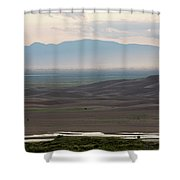 Dusk Over Medano Creek And The San Luis Shower Curtain