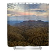 Dusk Over Mount Solitary Shower Curtain