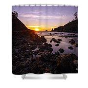 Dusk Skies Along The Coast Shower Curtain