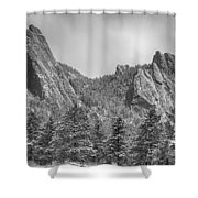Dusted Flatiron In Black And White  Shower Curtain
