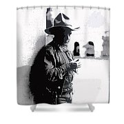 Dustin Farnum On  Set Of Light Of The Western Stars  Las Moros Ranch Southern Arizona 1918-2013  Shower Curtain