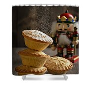 Dusting Mince Pies Shower Curtain