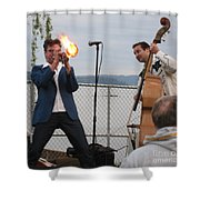 Dusty 45 On Fire Shower Curtain