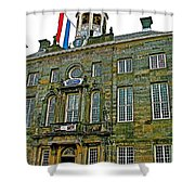 Dutch Architecture Of The Golden Age For Town Hall In Enkhuizen- Shower Curtain