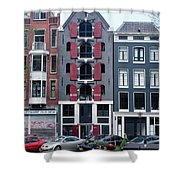 Dutch Canal House Shower Curtain