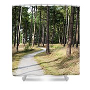 Dutch Country Bicycle Path Shower Curtain