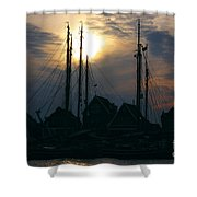 Dutch Harbour By Night Shower Curtain