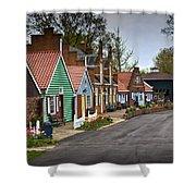 Dutch Shops On Windmill Island In Holland Michigan Shower Curtain