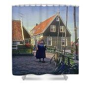 Dutch Traditional Dress Shower Curtain