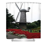 Dutch Windmill In Golden Gate Park Shower Curtain