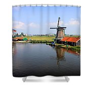 Dutch Windmills Shower Curtain