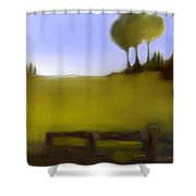 Duxbury Golf Course  Number 4-4 Shower Curtain