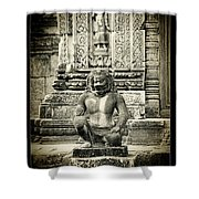 Dvarapala At Banteay Srey Shower Curtain