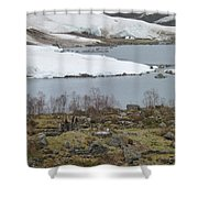 Dwarfed By Nature Shower Curtain