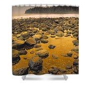 D.wiggett Rocks On Beach, China Beach Shower Curtain by First Light